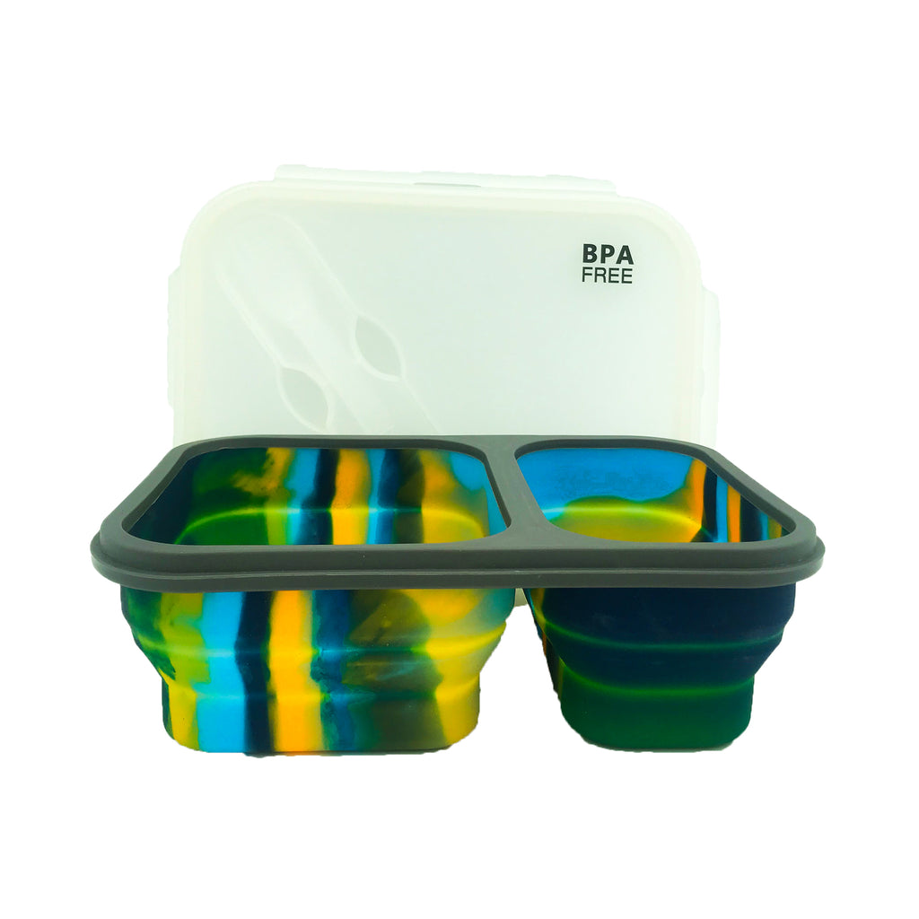 Silicon Bendable Tiffin Box Large Yellow