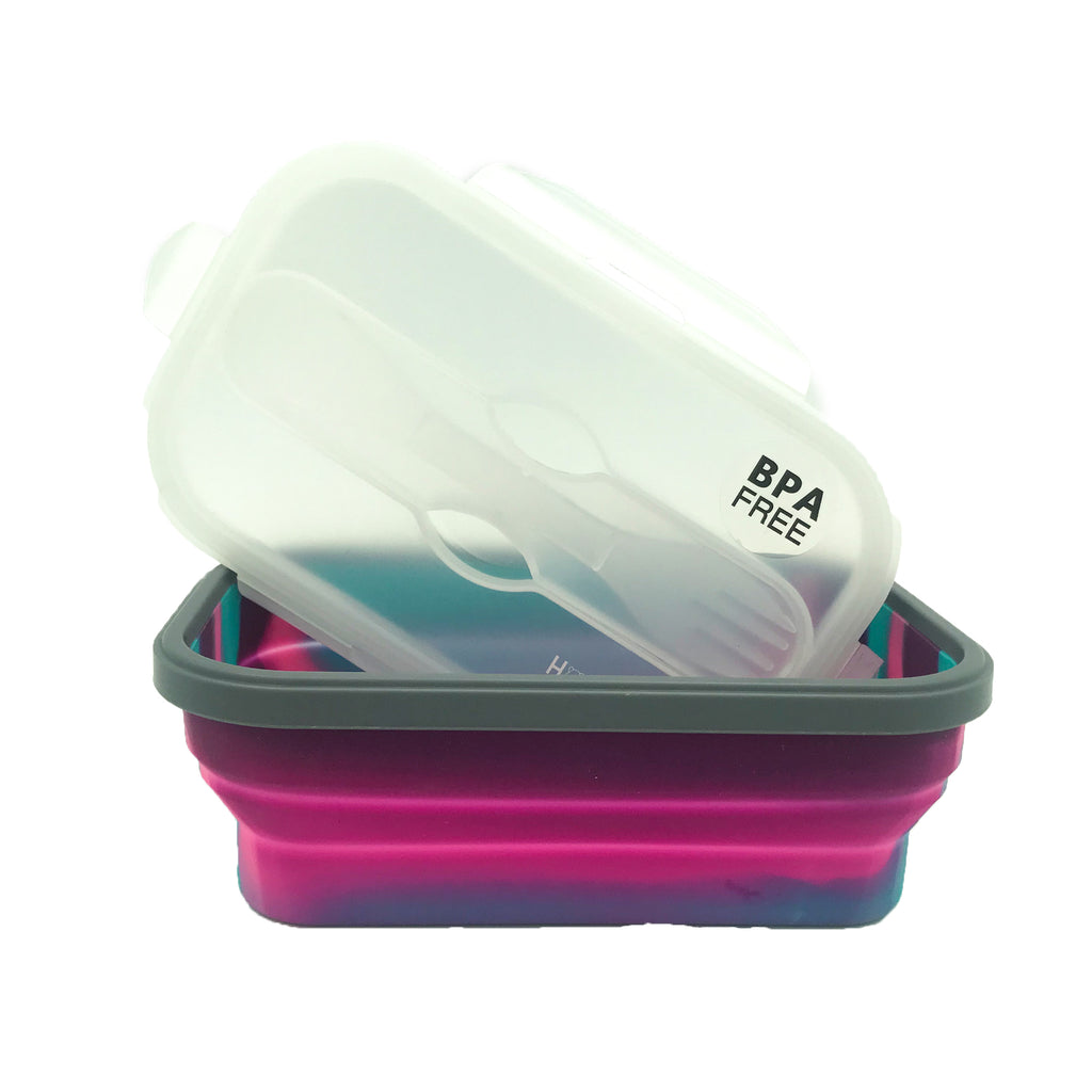 Silicon Bendable Tiffin Box Medium Hot Pink