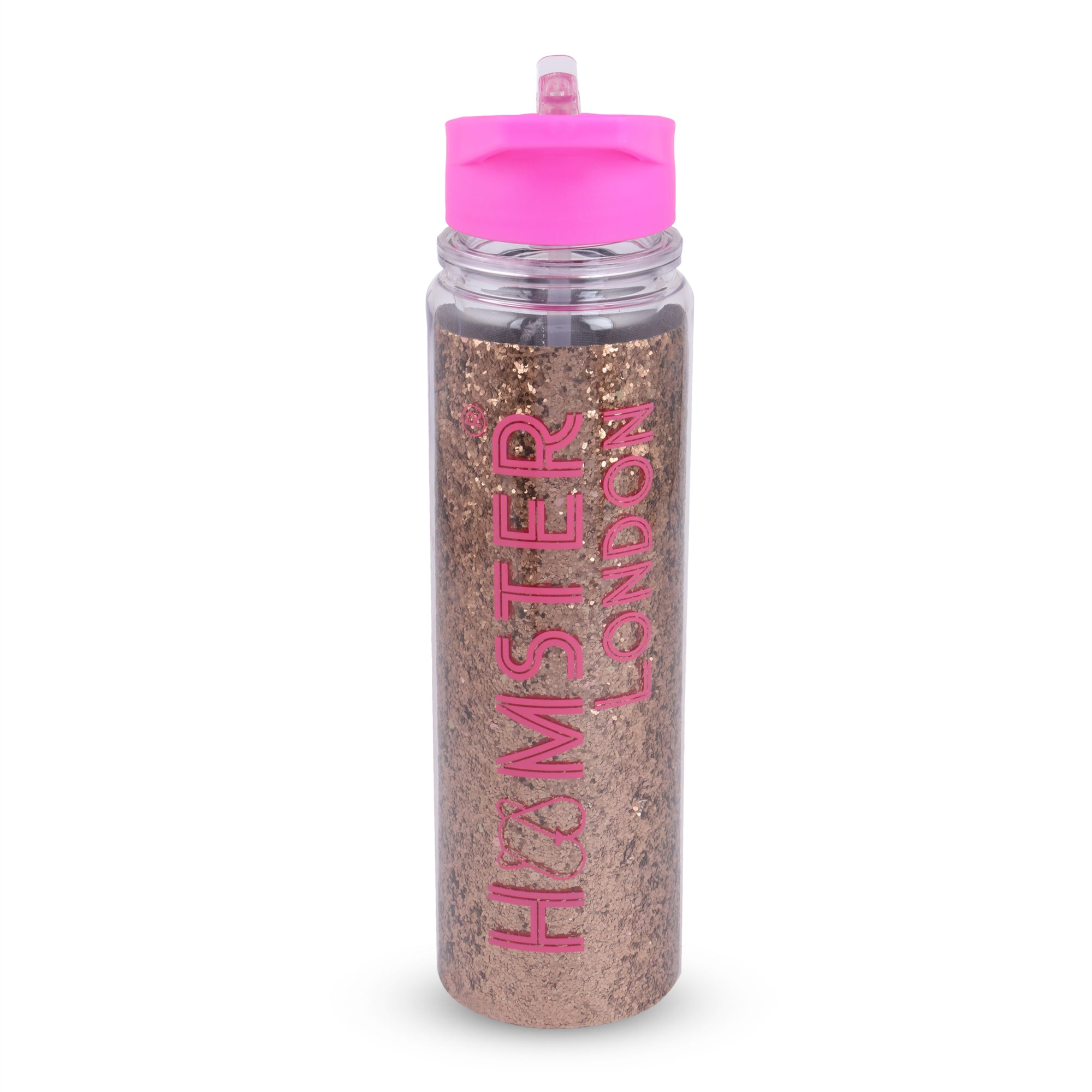 Glitter Sipper Water Bottle Gold With Customization