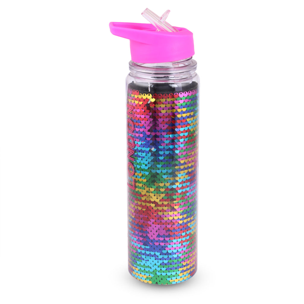 Glitter Sipper Water Bottle Multi Color Sequence