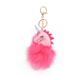 Unicorn Fur Pom Pom Keychain/ Keyring for Woman & Girl's