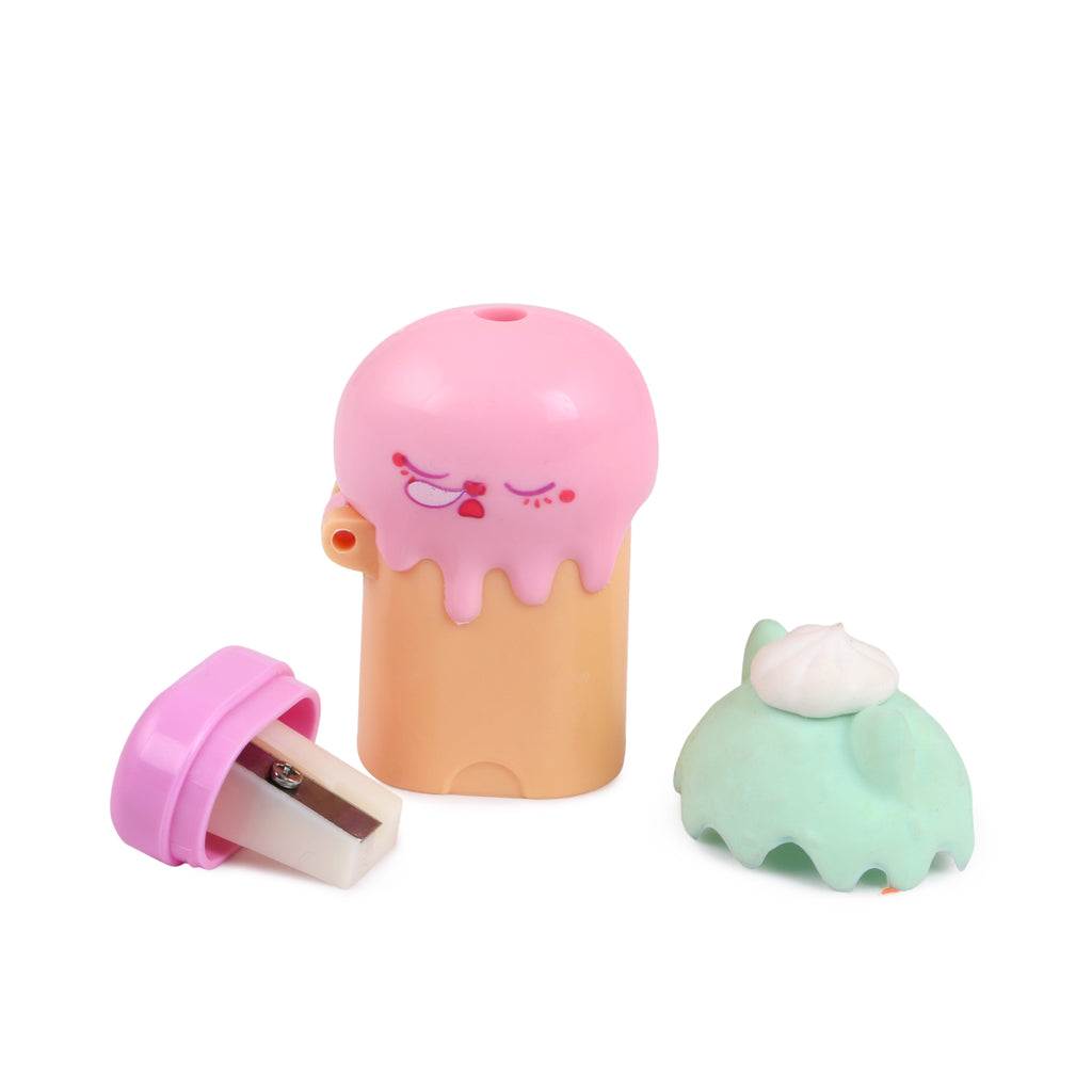 Scented Sharpener & Eraser Cat
