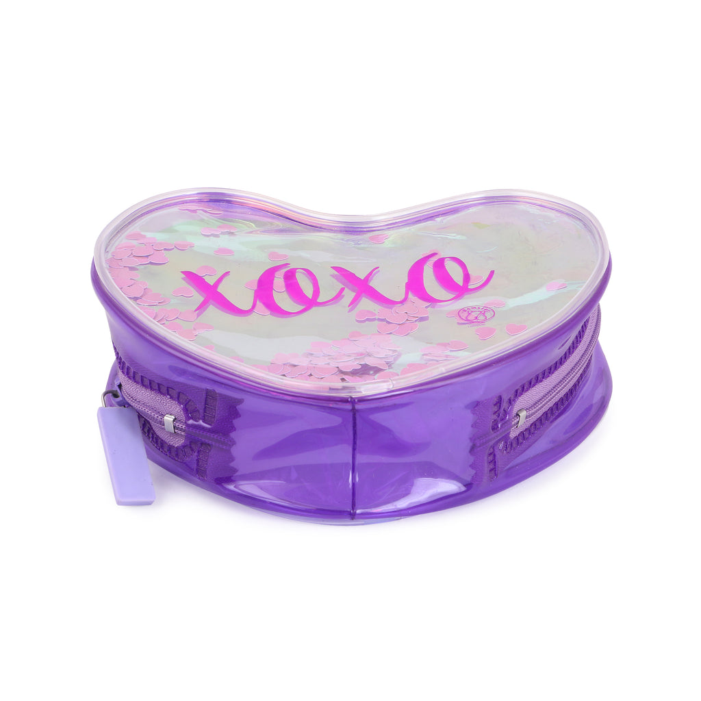 XOXO shiny pouch Makeup Pouch Coin Pouch Purple