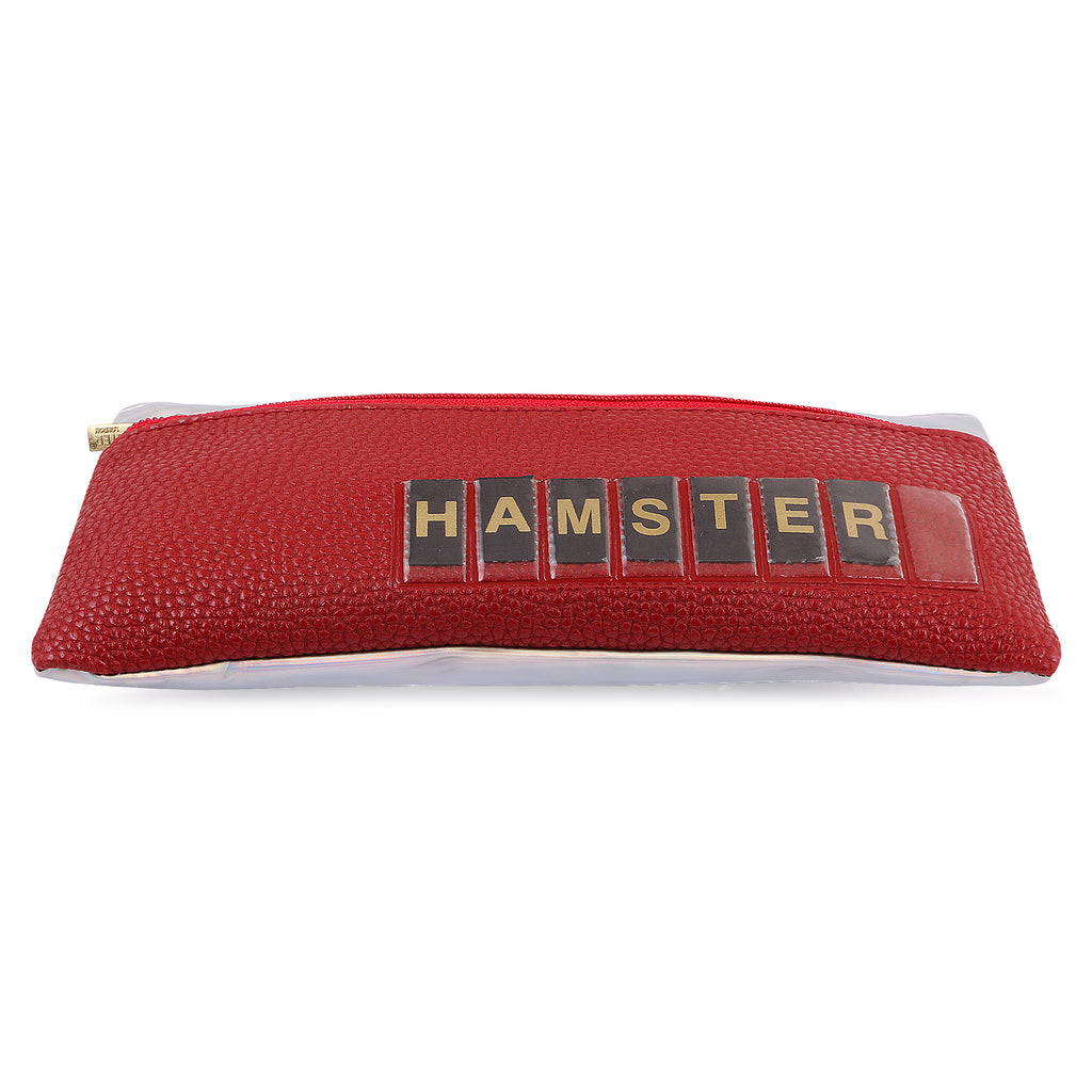 Customizable Name Pouch Red