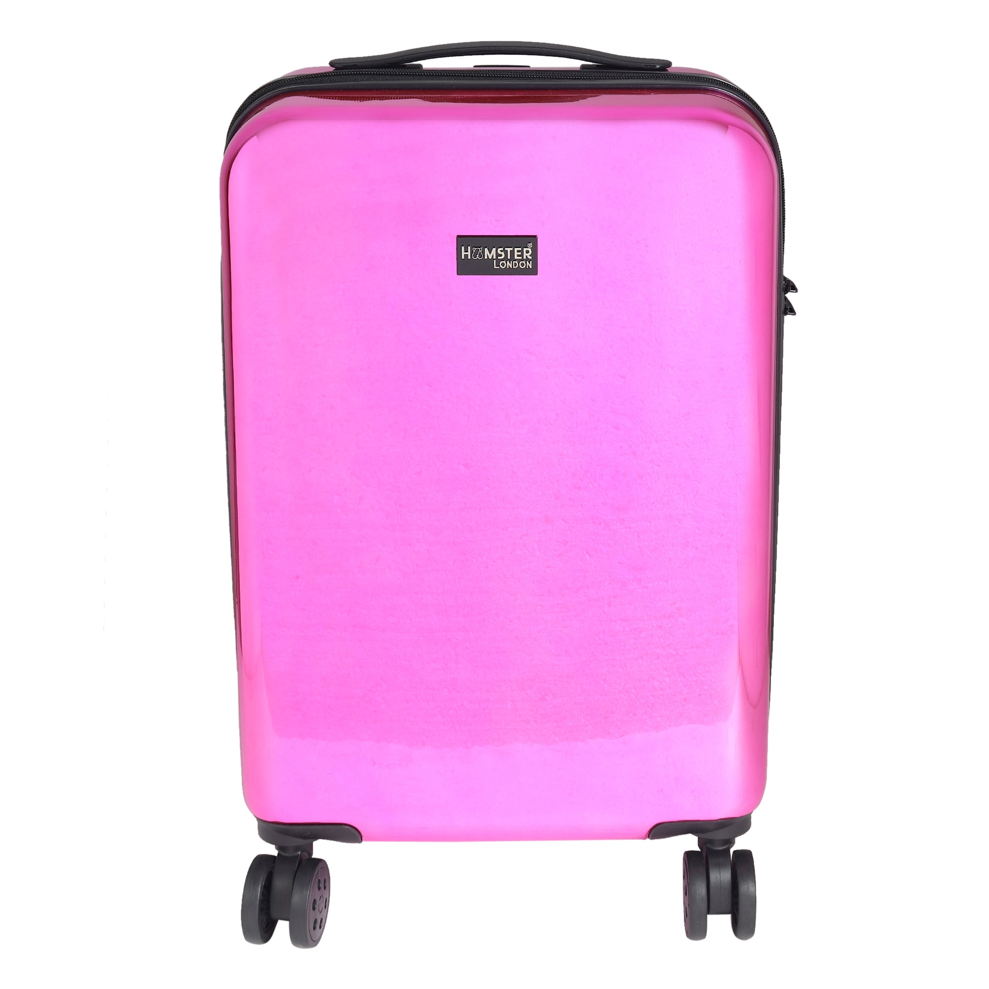 Hamster London HL Vintage Suitcase/ 55 Cms ABS+ Polycarbonate Mirror Finish Hardsided Cabin Luggage ( Pink)
