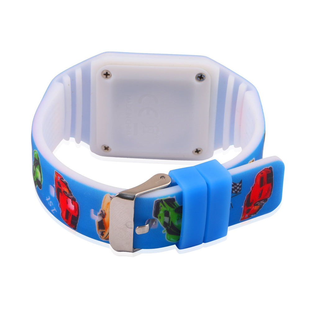 Silicon LED Digital Wrist Watch for Boys Cars