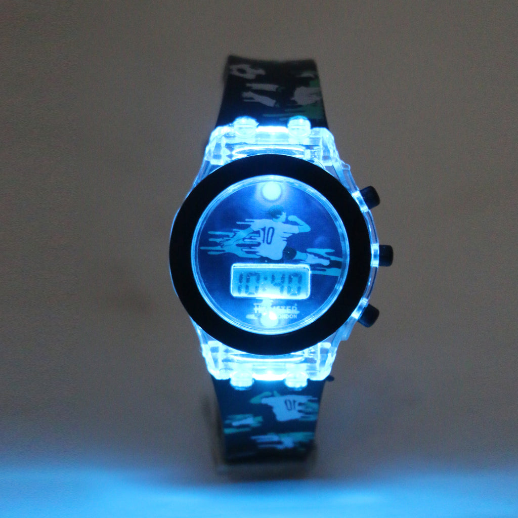 Silicon Light up Wrist Watch for Kids Girl's/Boy's Football
