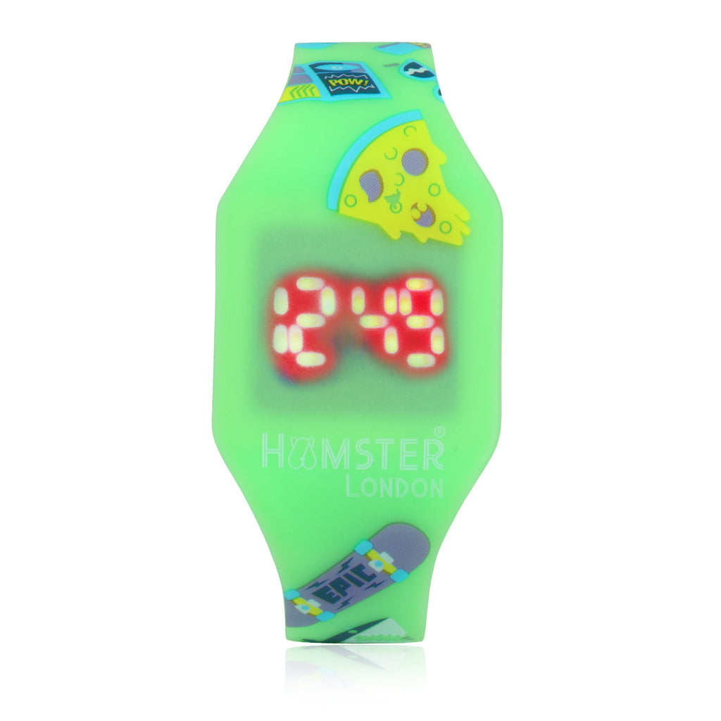Glow in The Dark LED Watch Pizza