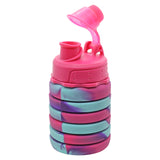Silicone Expandable and Foldable Water Bottle Hot Pink