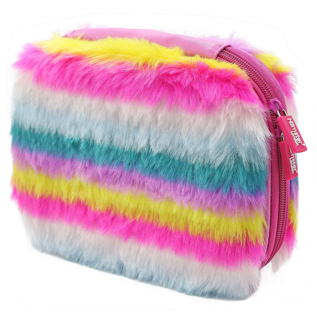Rainbow Fur Hardtop Pencil Case