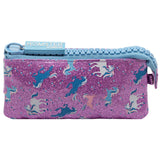 Big Zipper Pencil Case Pouch Unicorn