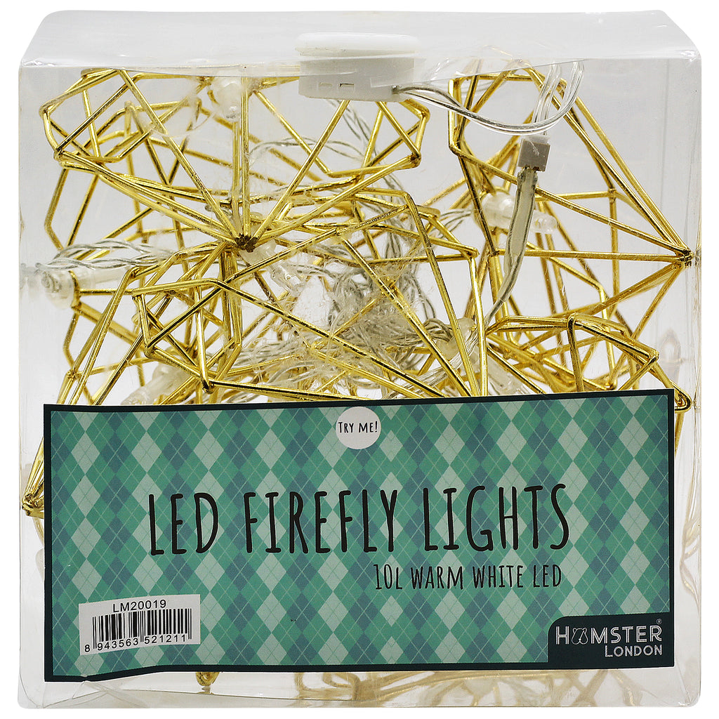 Fairy String Lights Gold Heart
