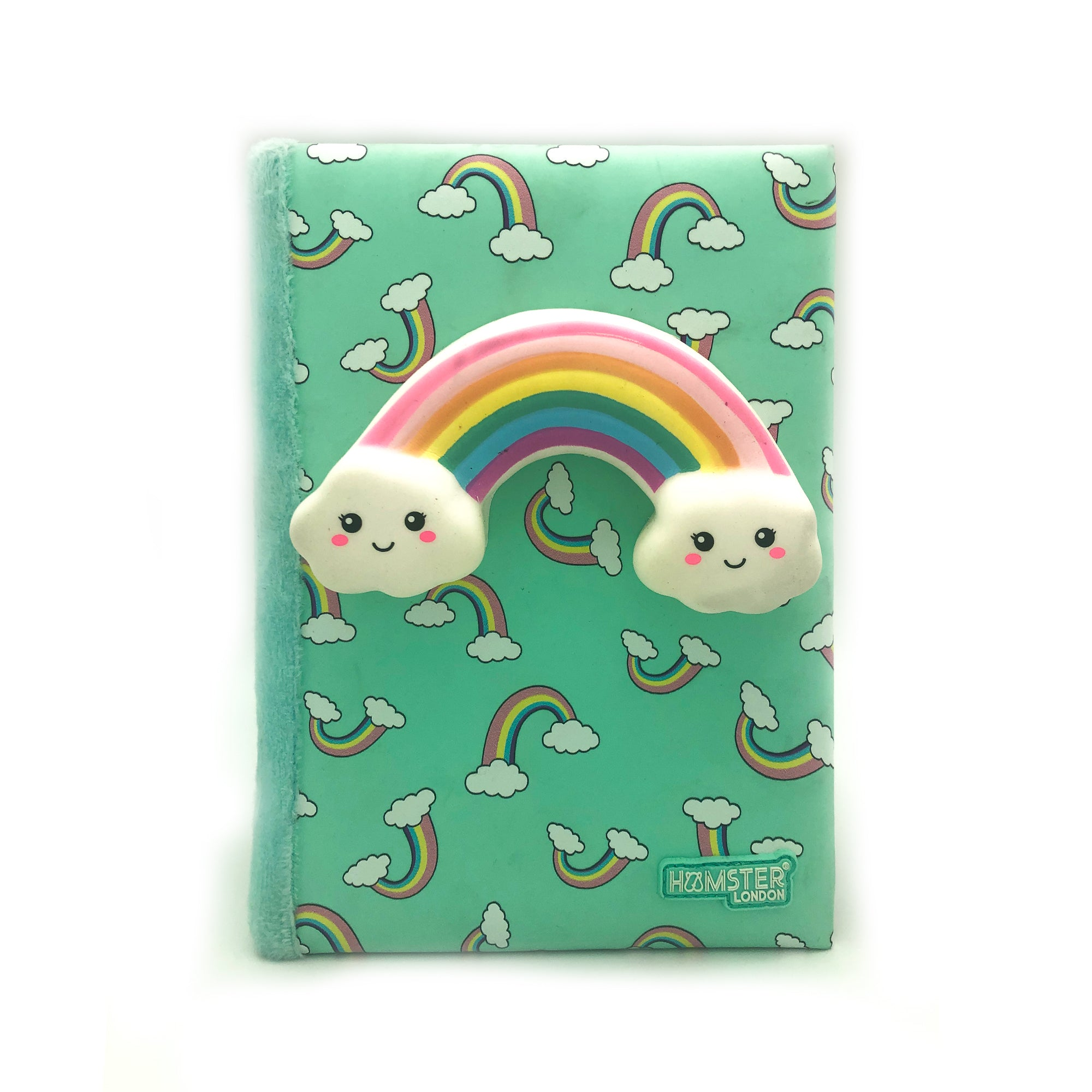 Silicon Rainbow Diary With Squishy Pen Unicorn Horn