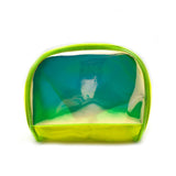 Tote Bag Green + Shell Pouch Neon