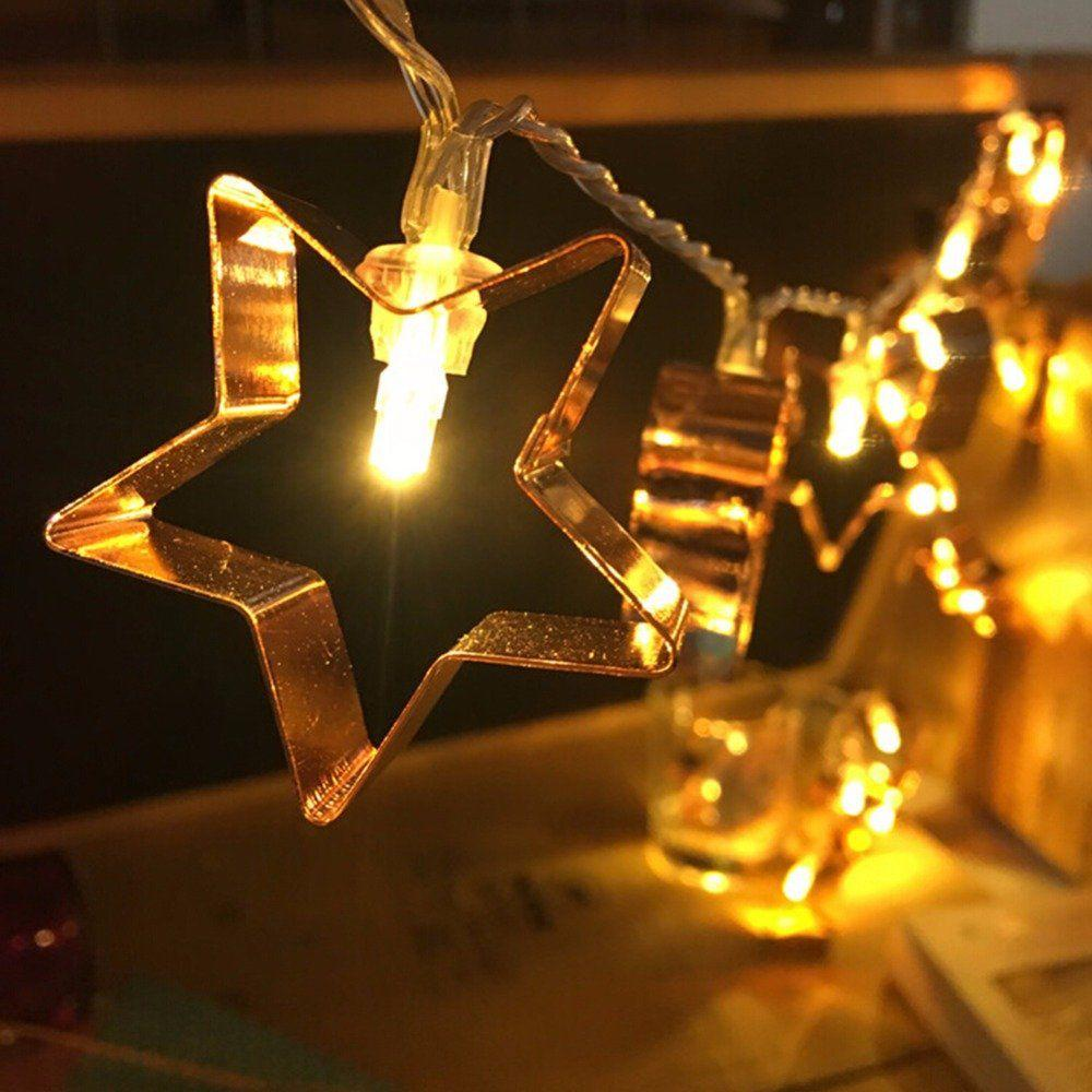 Fairy String Lights  Star Gold Set of 2