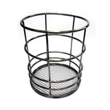 Round Metal Pen Stand Black