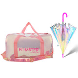 Shiny Duffle Bag Pink & Holo Umbrella Pink