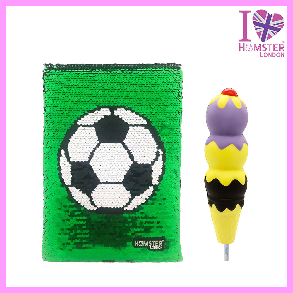 Sequence Football Diary With Squishy Pen Ice Cream