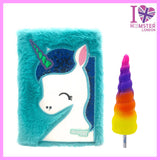 Fur Unicorn Diary With Squishy Pen Unicorn