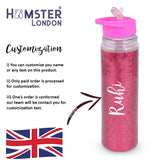Glitter Sipper Water Bottle Pink With Customization