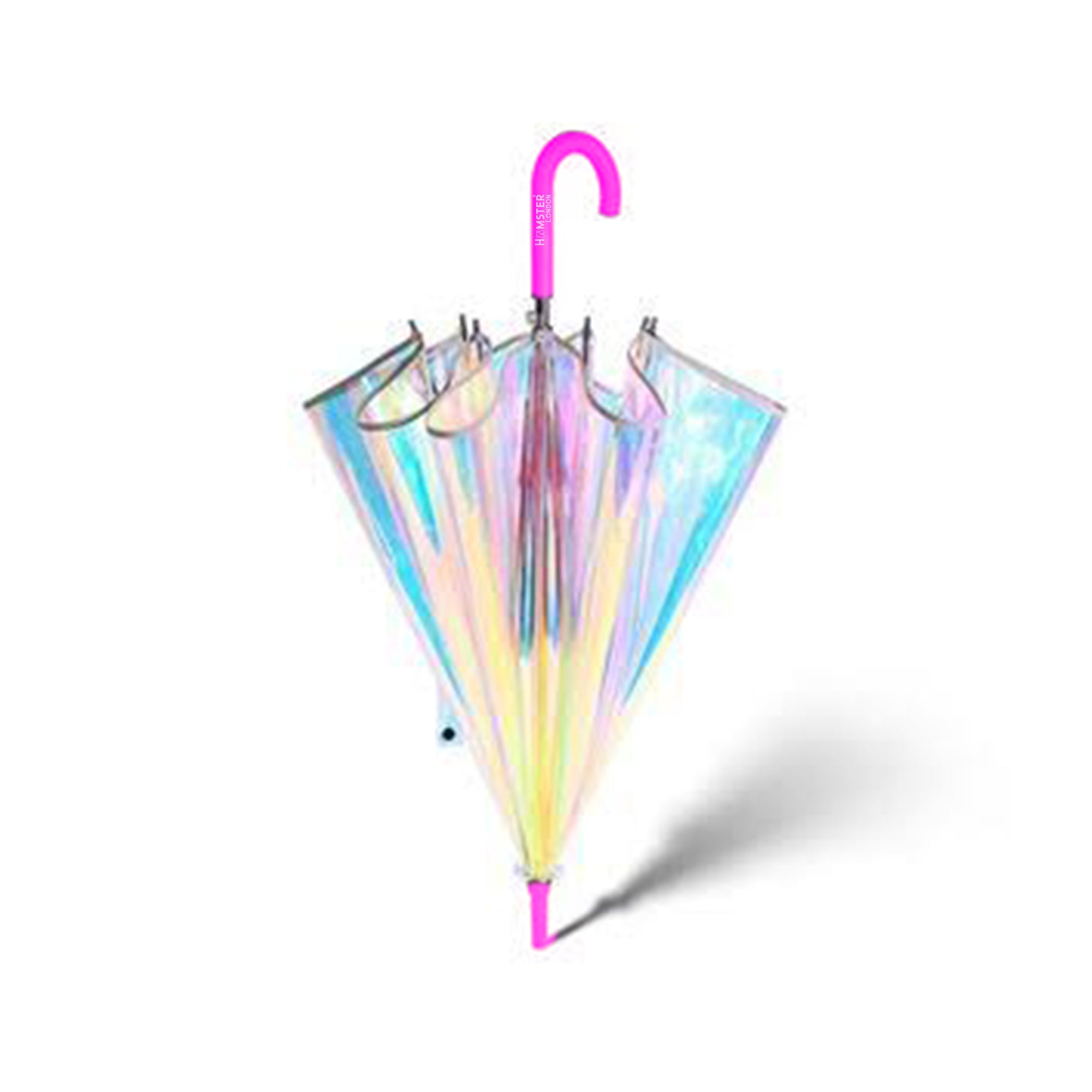 Shiny Holographic Umbrella Pink