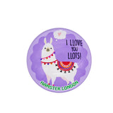 Crystal Glass Magnet Lama Purple