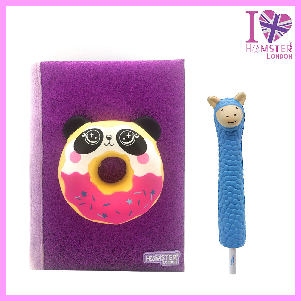Panda Donut Diary With Squishy Pen Lama