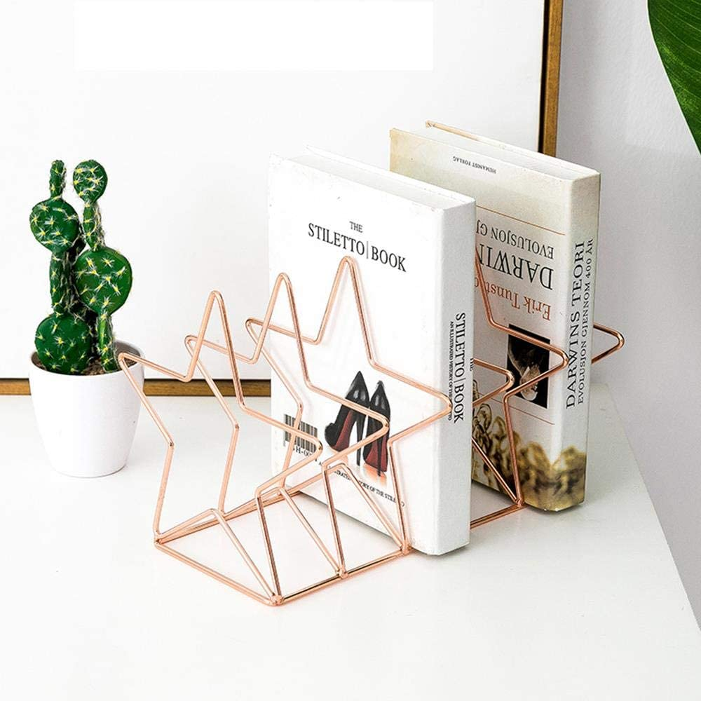 Metal Book Stand Star Rose Gold