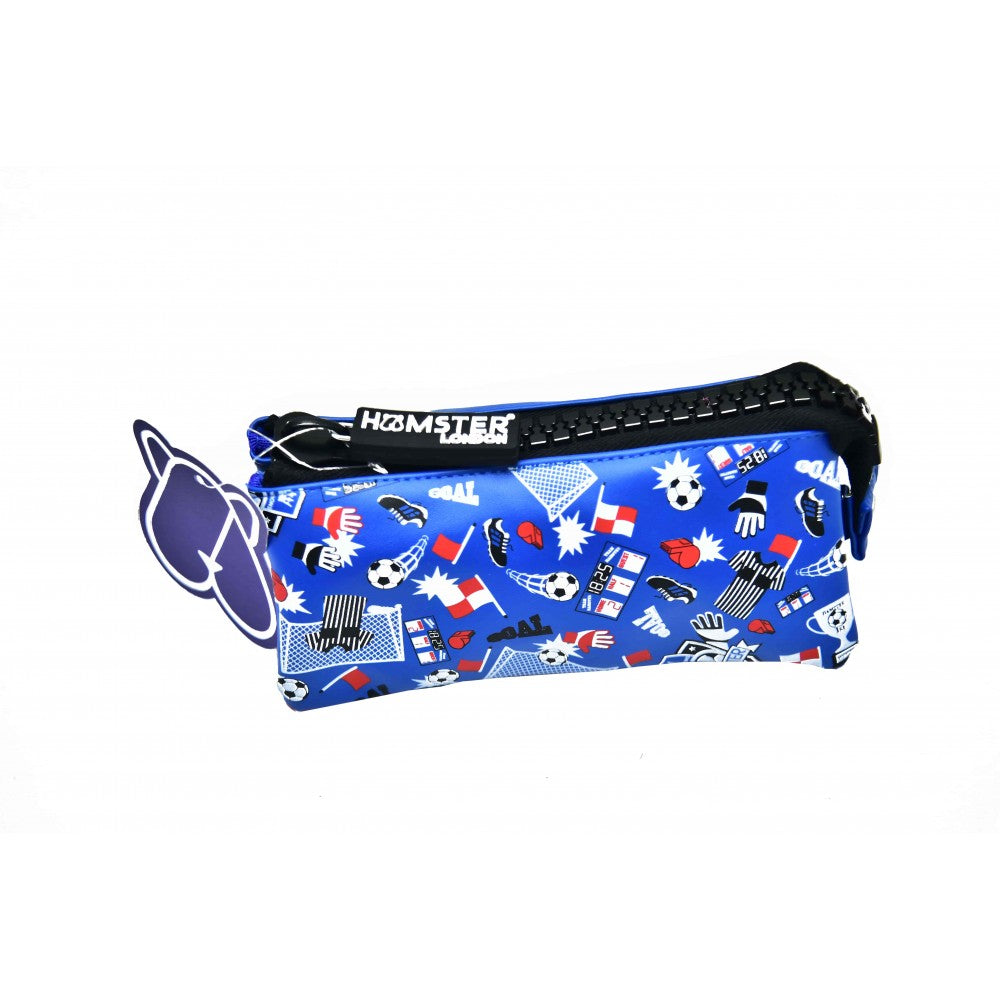 Big Zipper Pencil Case Pouch Football