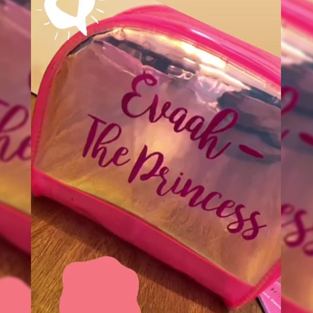 Shell Pouch Pink With Customization