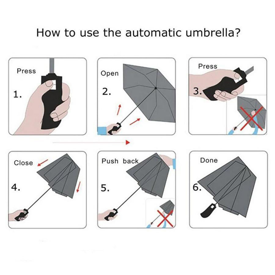Automatic Open & Close Pocket Folding Umbrella (Green)