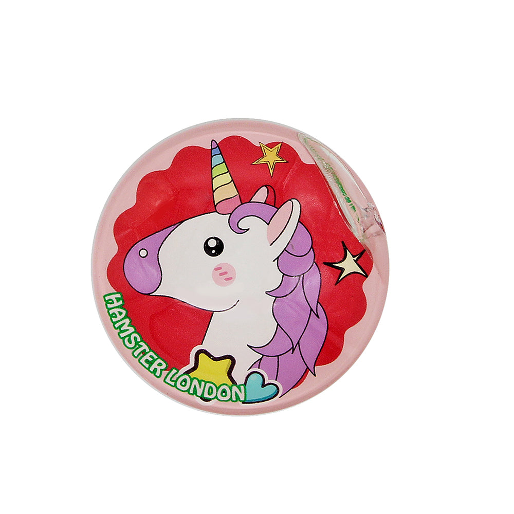 Crystal Glass Magnet Unicorn Red
