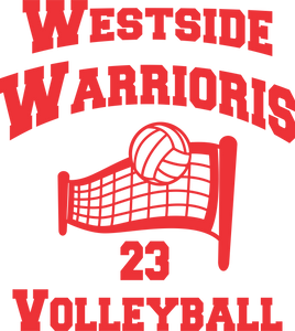 Vinyl Volleyball Net Personalized Decal