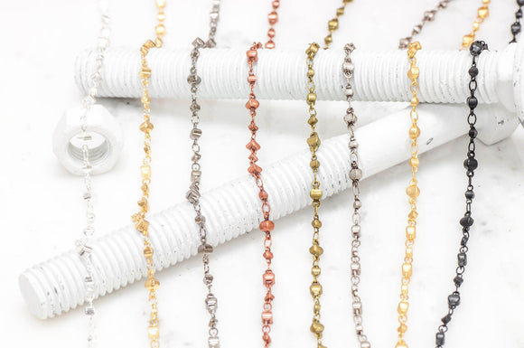 Alternating Pattern Chain - 5.8-8mm - By the Spool