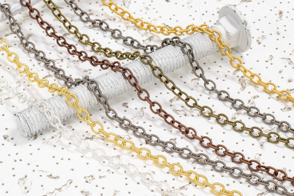 Textured Cable Chain - 8x6.5mm - By the Spool