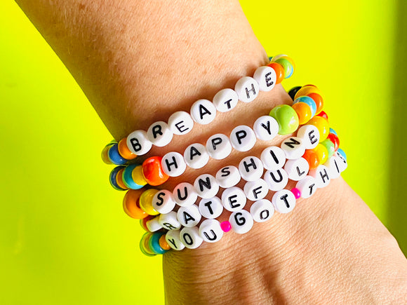 Just Say It: Custom WORD bracelets