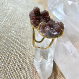 Freeform Agate Druzy Ring #21