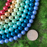 10mm Glass Pearl Rainbow Set
