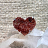 Heart Shaped Agate Druzy Ring #20