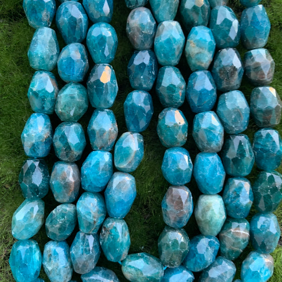 Apatite Faceted Barrels - Full Strands