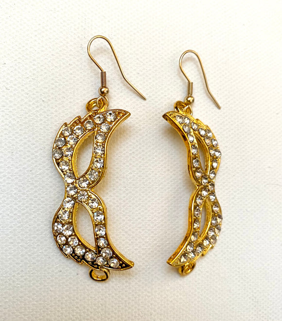 Sparkly Mardi Gras Mask Earrings