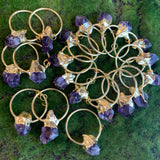Plated Amethyst Pendants