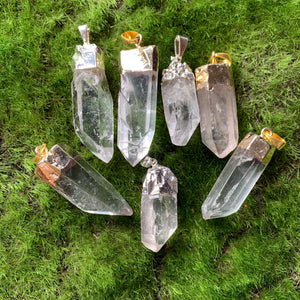 Quartz Point Pendants