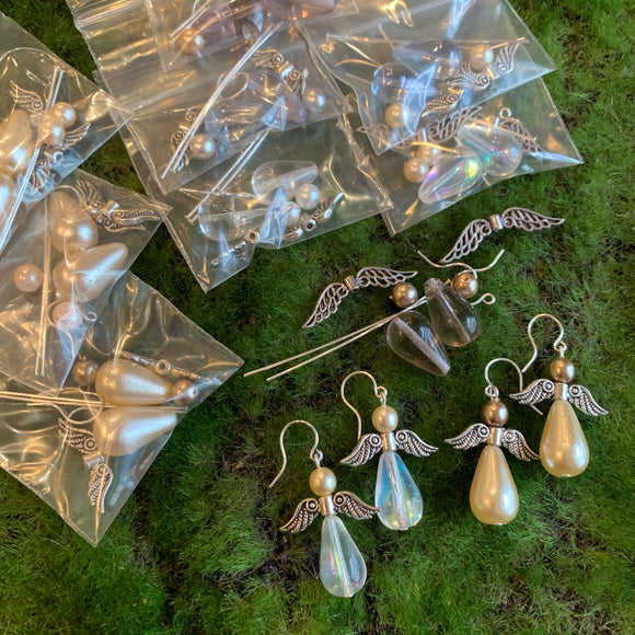 Angel Earring Kits and Finished Earrings