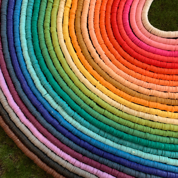 Rubber Disk Beads
