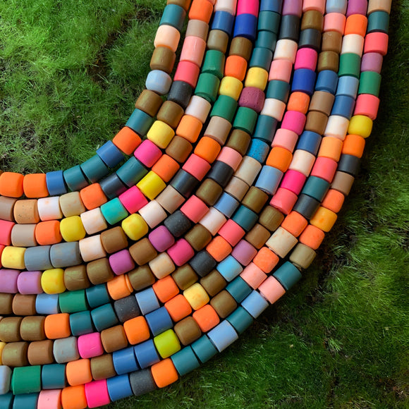 Polymer Clay Tube Beads