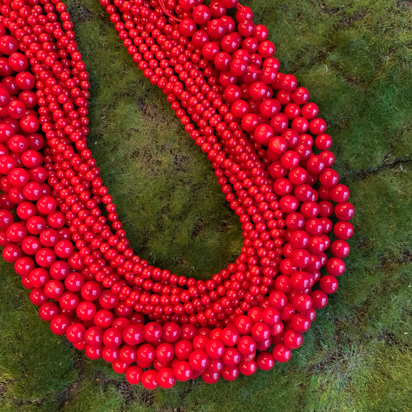 Coral Strands - Dyed Red