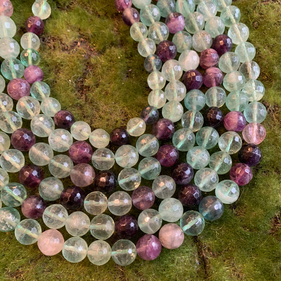 Rainbow Fluorite - Faceted Rounds