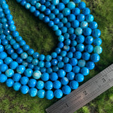 Fire Agate - Teal Blue Faceted Rounds