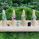 Plated Stone Rings